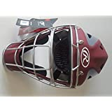 "Rawlings CHVEL Velo Adult Cardinal / Gray Catchers Helmet Fits 7-1/8"" - 7-3/4"""