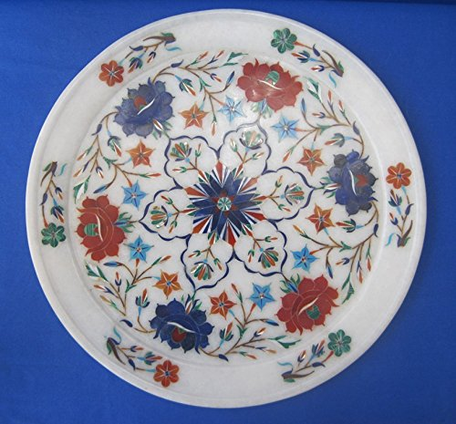 rquetry Mosaic Inlay Semi Precious Handicraft EHS & Decor (Marble Inlay Plate)