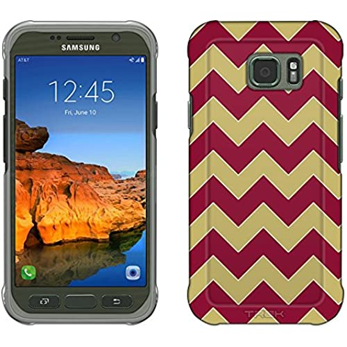 Samsung Galaxy S7 Active Case, Snap On Cover by Trek Chevron Gold Garnet Slim Case Sales