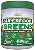 Superfood Vital Greens Powder - CoCoa Chocolate by Feel Great 365, Doctor Formulated, Organic, Whole30 Friendly, and Vegan, 100% Non-GMO with Real Green Vegetables, Polyphenols, and Probiotics.