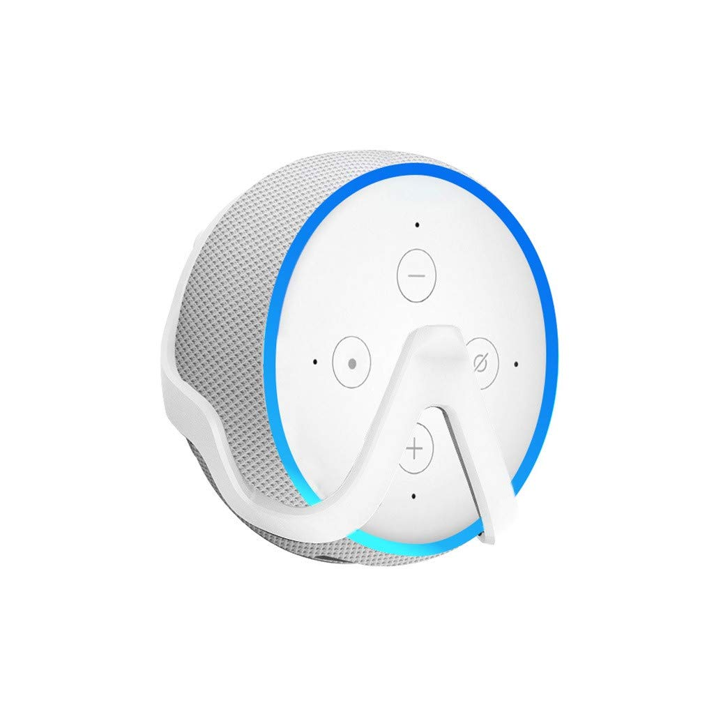 Outlet Hanger, Stand Outlet, Wall Mount Holder Holder for Echo Dot 3rd Generation (White, FREE)