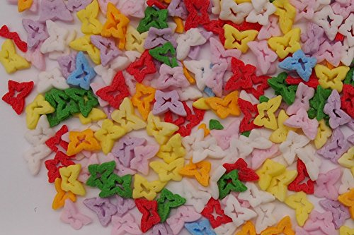 Natural Rainbow Gluten GMO Nuts Dairy Soy Free Confetti Butterfly Bulk Pack. by Quality Sprinkles