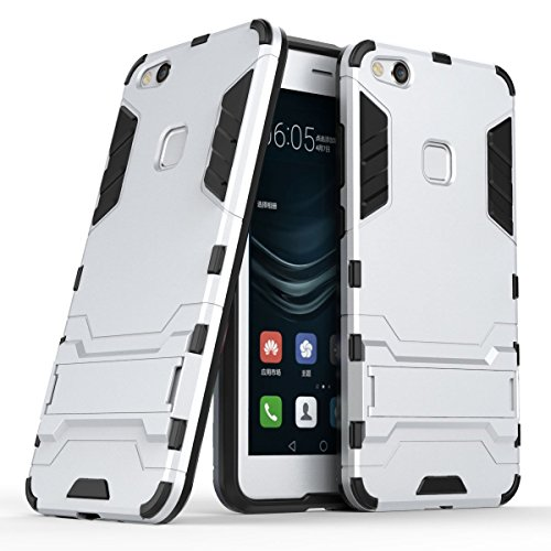 Funda para Huawei P10 Lite (5,2 Pulgadas) 2 en 1 Híbrida Rugged Armor Case Choque Absorción Protección Dual Layer Bumper...