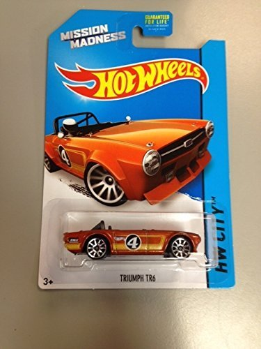 Hot wheels Mission Madness Triumph TR6 RARE special scavenger hunt edition vehicle 4/4 hw city 2014