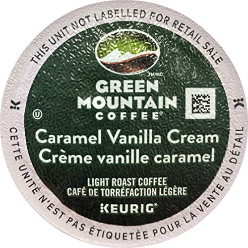 Green Mountain Coffee Roasters Caramel Vanilla Cream Coffee K-Cups for Keurig Brewers, 96 Count (24 Count, Pack of 4) - Packaging May Vary