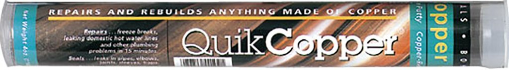 QuikCopper Epoxy Putty Stick for Copper, Brass, Bronze Repairs Polymeric Systems Inc. (7'' Tube) (4 Tubes)