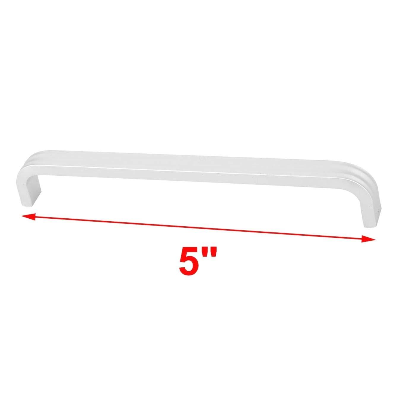 BERYLX Armario Tirador Mango Agarre 10cm Longitud Aleaci/ón de Aluminio Dormitorio Armario Armario 8pcs