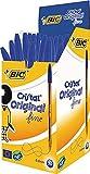 BIC Cristal - Caja de 50 bolígrafos de punta fina, color azul