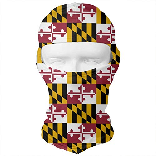 (WD&rain Maryland State Flag Balaclava Face Mask Headwear Helmet Liner Gear Full Face Mask Hood Motorcycle Mask)