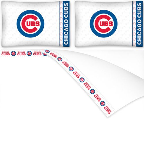 Sports Coverage MLB Chicago Cubs Micro Fiber Sheet Set, K...
