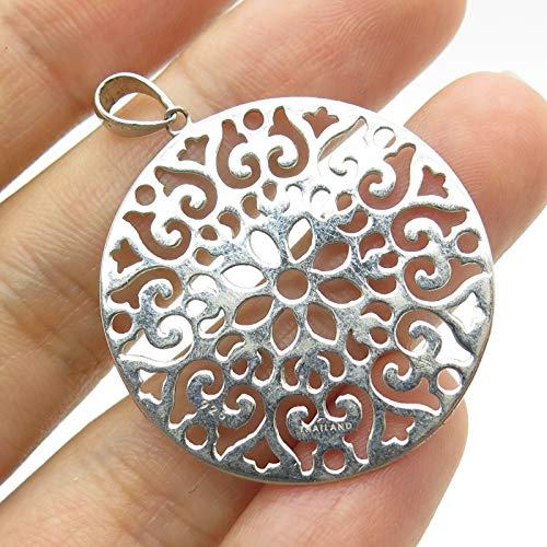 925 Sterling Silver Openwork Circle Pendant Jewelry Making Supply by Wholesale - Pendant Openwork Circle