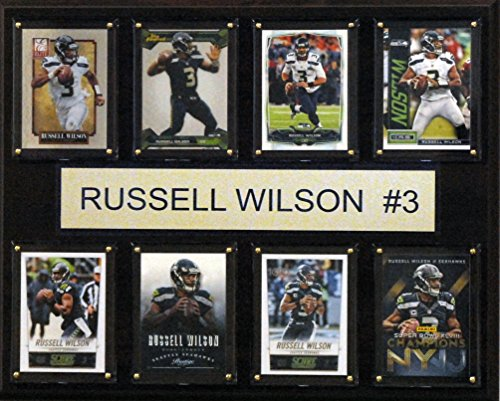 (NFL Seattle Seahawks Russell Wilson 8-Card Plaque, 12 x 15-Inch)