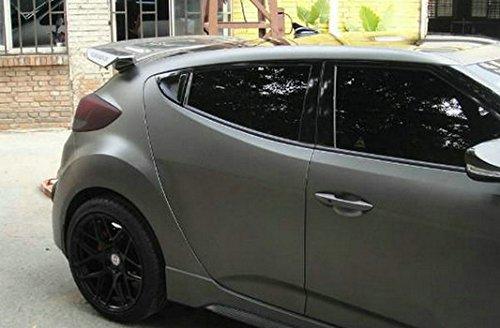 De fibra de carbono para Hyundai Veloster Sequnce estilo trasero alerón ala Kits (Turbo modelo sólo): Amazon.es: Coche y moto