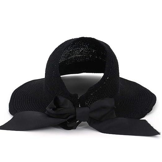 Chlyuan-ac Sombrero de Copa Sombrero Plegable Vintage para Mujer ...