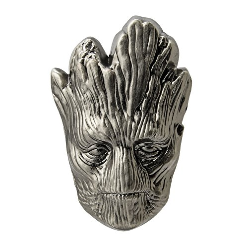 (Marvel The Groot Head Pewter Lapel Pin Action Figure)