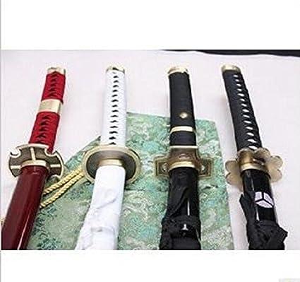 Hand Forge Roronoa Zoro/'s Shusui One Piece Anime Sword Red Hamon