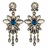 Maayra Beautiful Designer Earrings Blue Dangler Drop College Fashion Earrings