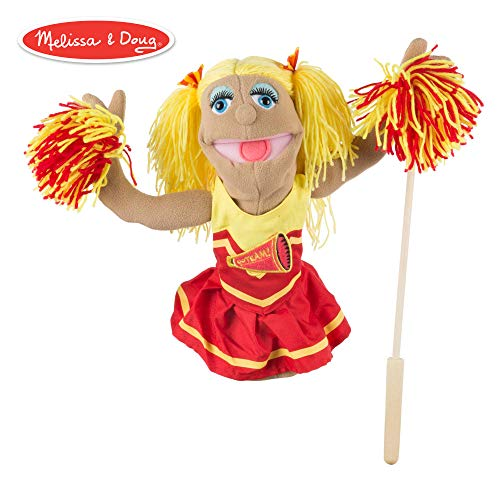 Melissa & Doug Cheerleader Puppet with Detachable Wooden Rod (Puppets & Puppet Theaters, Animated Gestures, Inspires Creativity, 15