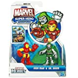 Marvel Super Hero Adventures Mini Figure 2Pack Iron Man Dr. Doom