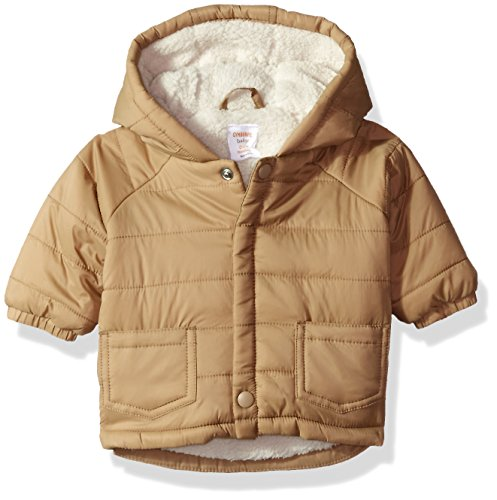 Tan Sherpa (Gymboree Baby Boys Quilted Sherpa-Lined Coat, Tan, 0-3 Mo)