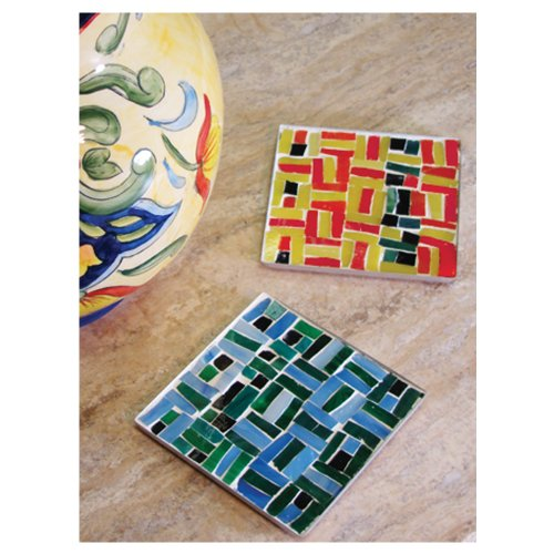 Jennifer's Mosaics Mosaic Metal Coaster Kit, Makes 2 Coasters ()