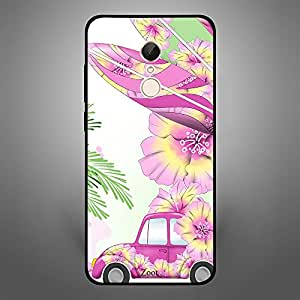 Xiaomi Redmi 5 Pink Car n Leaves