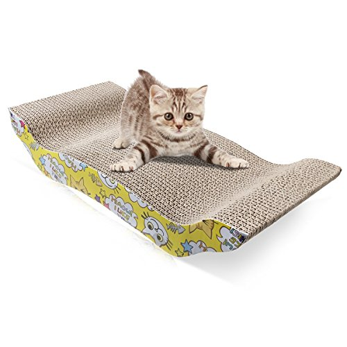 IDEAPRO Cat Scratcher Cardboard Recyclable Corrugated Scratching Pad Scratch-resistant Bed Sofa for Cat