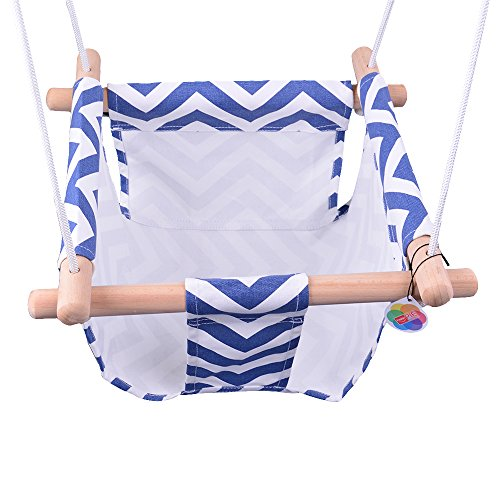 Mini Swing - HappyPie Infant to Toddler Secure Hanging Swing Seat Indoor and Outdoor Hammock Toy (Mini Size)