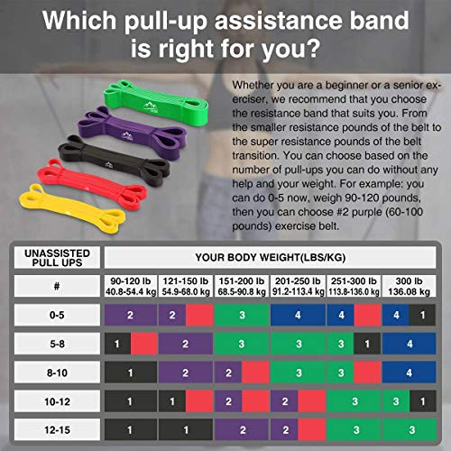 JDDZ SPORTS Pull up Resistance and Assist Bands, Workout Bands | Powerlifting Bands,Mobility Stretch Bands,Exercise Band for Body Fitness Training,Chin Ups, Stretch
