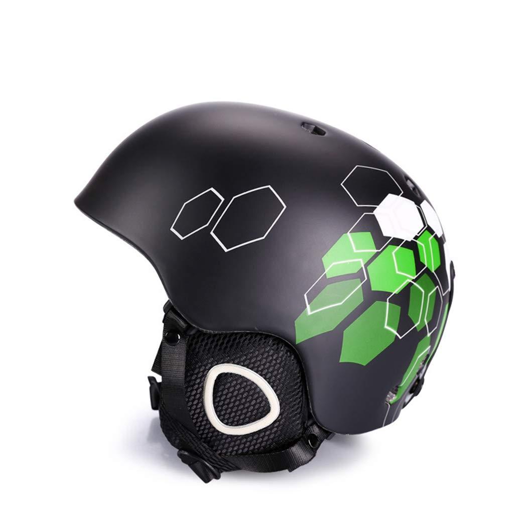 BLUEDYYY Skihelm Schnee Helm Skateboard Ski-Schutz-Fahrrad/Skateboard-Helm für Erwachsene Pendler Fahrrad Skate Breathable Bequem für Outdoor-Baseball,E,S