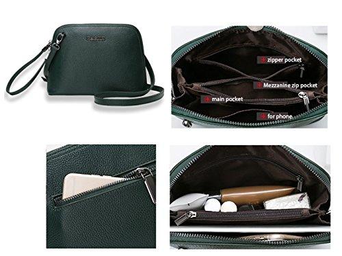 Shoulder Light Green Bags Bags SAIERLONG Cross Grey Womens Body Leather qYxwnC7vTP