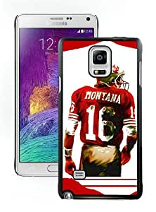 Joe Montana Black Case for Samsung Note 4,Prefectly fit and directly access all the features