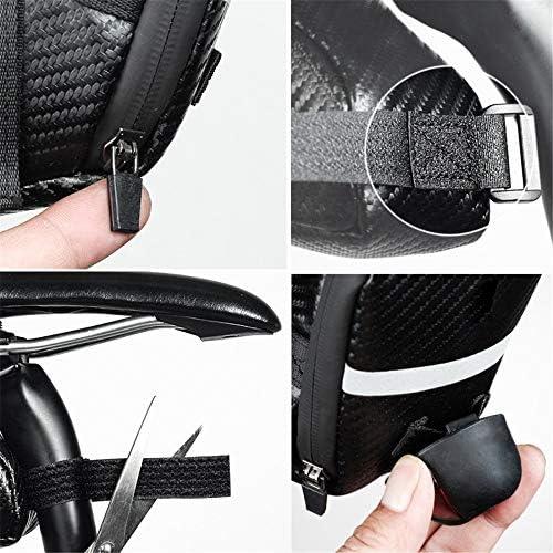自転車用サドルバッグ 多機能自転車シートバッグ反射自転車サドルバッグ屋外自転車収納ポーチ MBTまたはロードバイクシート用 (Color : Matt black, Size : 1L)