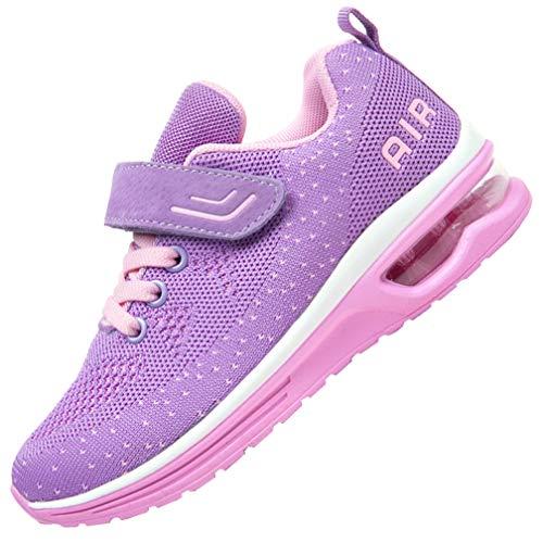 JARLIF Kids Athletic Tennis Running Shoes Breathable Sport Air Gym Jogging Sneakers for Boys  Girls (4 M US Big Kid,Purple) best to buy