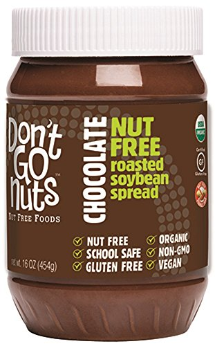 (Don't Go Nuts Nut Free Organic Soy Butter, Chocolate, 16 Ounce)