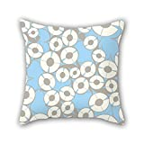 PILLO Colorful geometry pillowcover 18 x 18 inches / 45 by 45 cm best choice for kitchen,kids girls,car,couch,lover,home office with each side