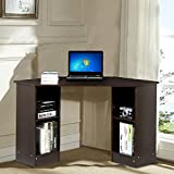 Yaheetech Modern Home Office Corner L Shaped Computer Desk with Storage Cabinet Laptop Table Yaheetech