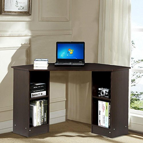 Yaheetech Modern Home Office Corner L Shaped Computer Desk With Storage Cabinet Laptop Table