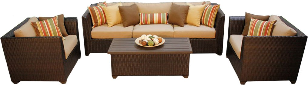 Tk Classics Barbados 06g 6 Piece Barbados 06 G Outdoor Wicker Patio Furniture Set, Wheat by Tk Classics