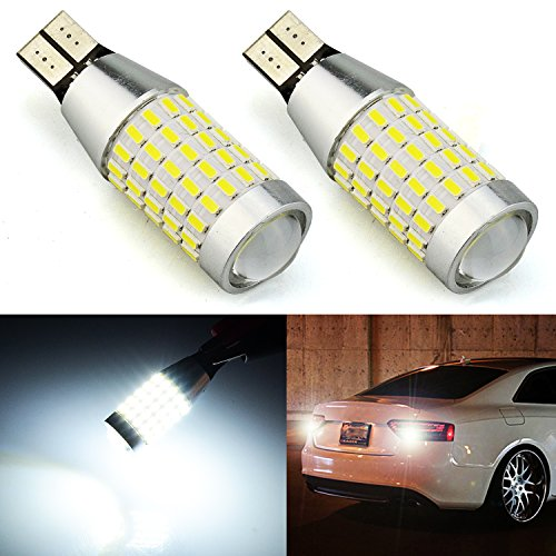 JDM ASTAR Extremely Bright 2000 Lumens 360-Degree Shine 921 912 90-EX Chipsets LED Bulbs For Backup Reverse Lights, Xenon White ()