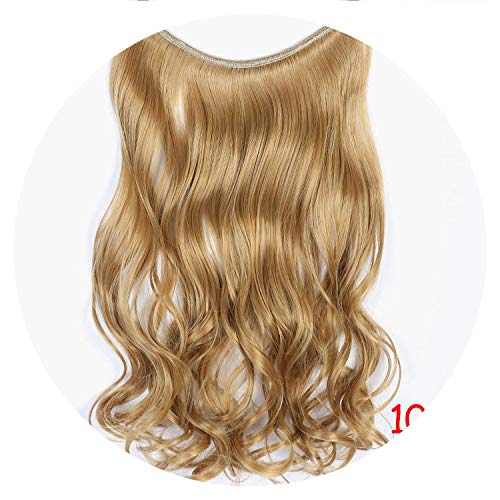 Long Synthetic Hair Heat Resistant Line Curly Hair Extensions Secret Invisible Hairpieces,#27,22inch
