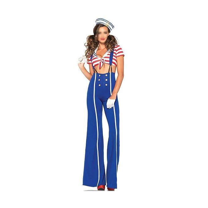 HUIMEIS Falda Larga de Honda de Halloween for Mujer Traje Azul ...