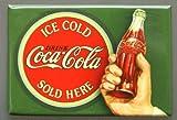 (2x3) Coca Cola Coke Ice Cold Bullseye Retro Vintage Locker Refrigerator Magnet