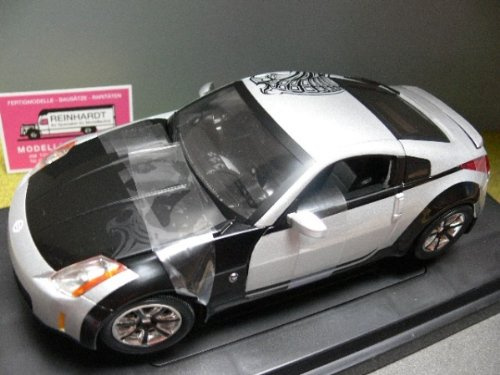 ''Fast and Furious 3 - Tokyo Drift'' 2003 Nissan 350Z 1:18 Scale (Black/Silver) by ERTL