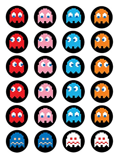 Pacman ~ Cupcake Topper ~ Edible Frosting Image -