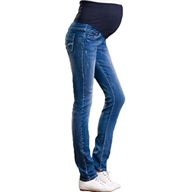 7f1606fce7d63 2018 Maternity Jeans Pants Trousers Over Bump Skinny Slim Fit Pregnant  Leggings
