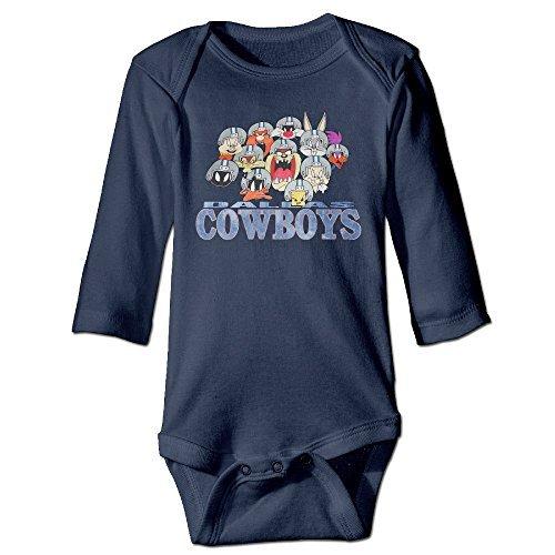 Baby Onesie Dallas Cowboy Cheerleaders Cute Baby Bodysuit Long (Cowboy Cheerleader Outfit)