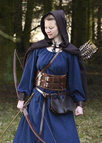 Wikingerkleid Kleid Merchant aus Battle Div Wikinger Blau Farben Mittelalter Mittelalterkleid Ana Baumwolle LARP 0dznzqw