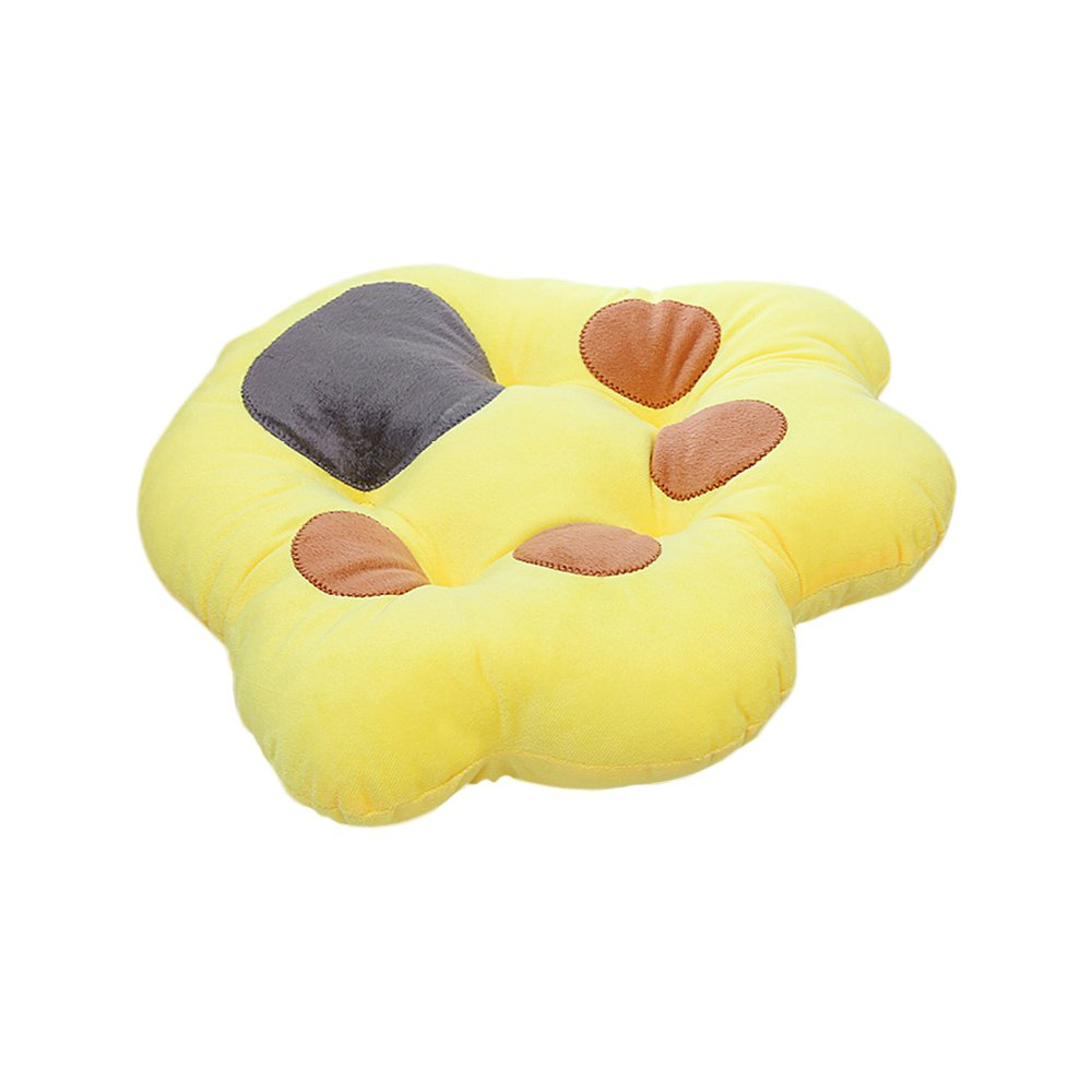 Zhi Jin Soft Bear Claw Seat Pad Cushion Thick Animal Chair Cushions Pads for Office Sofa Decoration Yellow