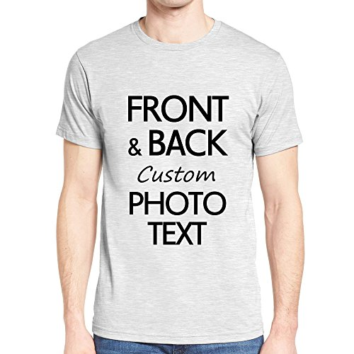 NIWAHO DIY Men's T-Shirt Custom Your Name Text or Picture Front and Back Print